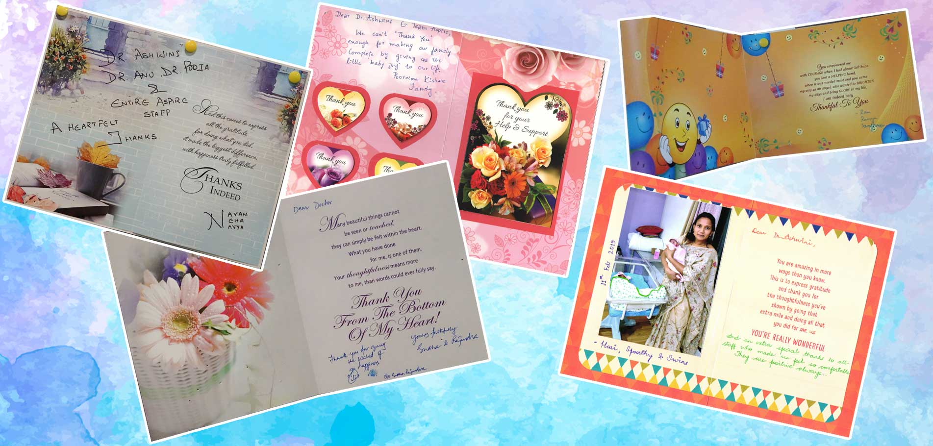 Greeting Cards From Patients